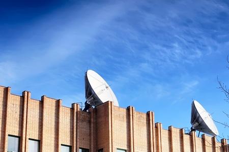 Satellite Dish on roof. photo