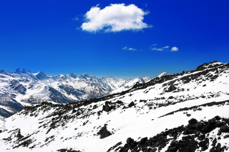 elbrus: Beautiful view of mountains in the Elbrus area.Europe
