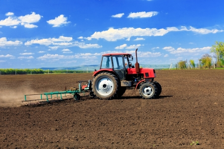Agriculture machinery in field   photo