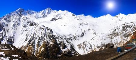 kavkaz: Beautiful view of mountains in the Elbrus area.Europe
