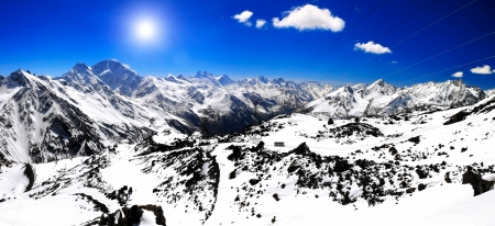 Beautiful view of mountains in the Elbrus area.Europe  photo