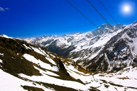 Beautiful view of mountains in the Elbrus area.Europe Stock Photo - 13803324