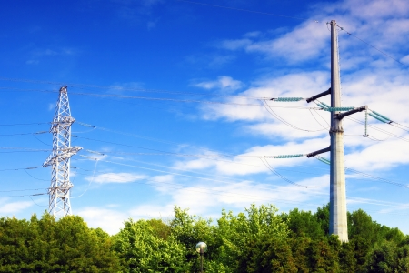 Power Transmission Line.   photo