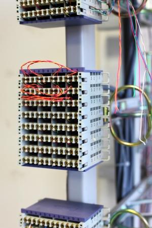optical equipment: Telecommunication equipment  in a big datacenter.