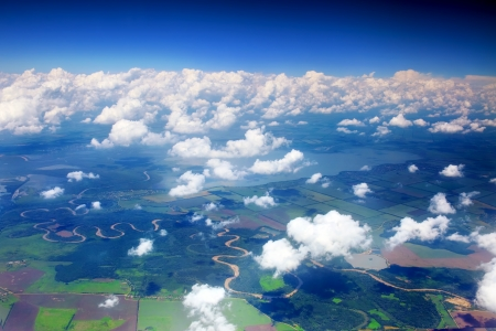 Beautiful view above the earth on landmark down. Stock Photo - 14157883
