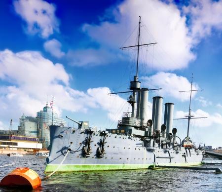 Cruiser Avrora in the  Saint-Petersburg. Russia Stock Photo - 14473431