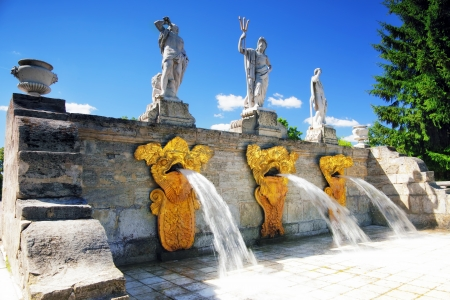 Cascade Fountain Gold Mountain   in Pertergof, Saint-Petersburg, Russia photo