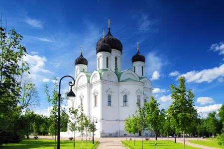 Russian Church in Pushkin, St. Petersburg. Russian Stock Photo - 14473239