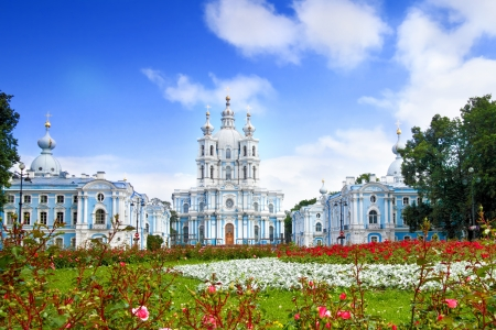 basilica of saint peter:  St. Nicholas Naval Cathedral . St. Petersburg. Russia Stock Photo