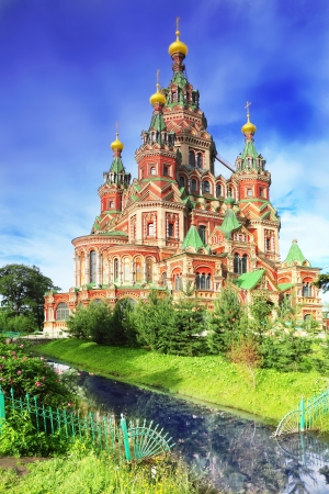 peterhof: Church of St. Peter and Paul Church, Peterhof, Saint Petersburg, Russia