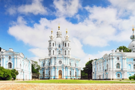 Russia, St. Petersburg. Smolny Cathedral (Church of the Resurrection) photo