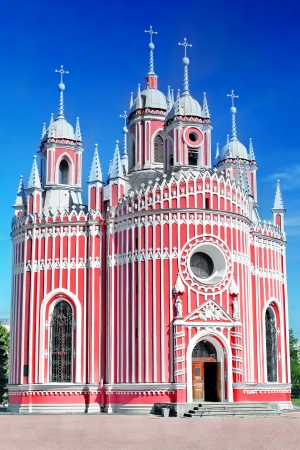 stria:  John the Baptist birth (Chesmen) church. Saint-Petersburg.Russia