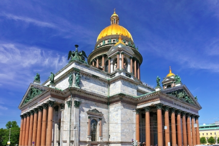Saint Isaacs Cathedral in St Petersburg photo