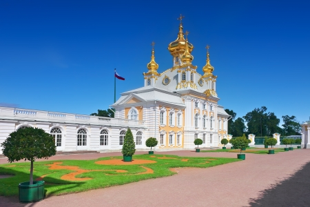 East Chapel of Petergof Palace in St. Petersburg. Russia photo