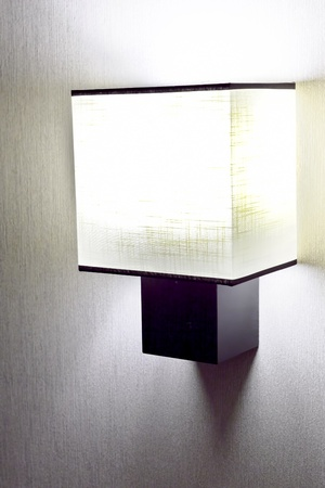 Modern  wall lamp on wall. photo