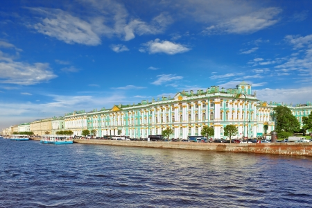 hermitage: View of Saint Petersburg from Neva river. Russia