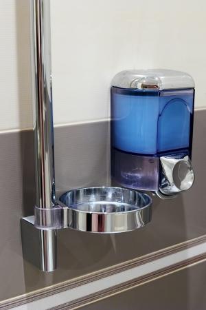 Soap dispenser in bathroom. Stock Photo - 15033877