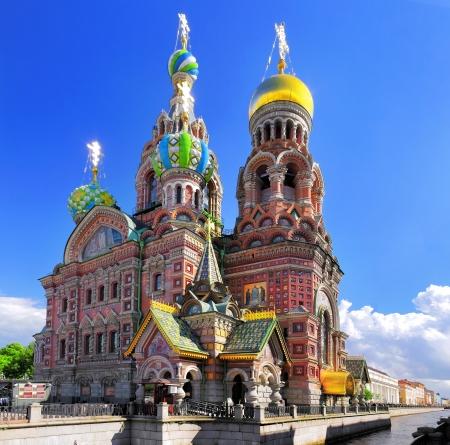 Kerk van de Verlosser op het Bloed, St. Petersburg, Rusland Stockfoto