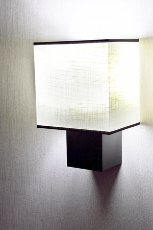 Modern  wall lamp on wall  photo