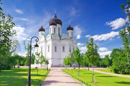 Russian Church in Pushkin, St. Petersburg. Russian photo