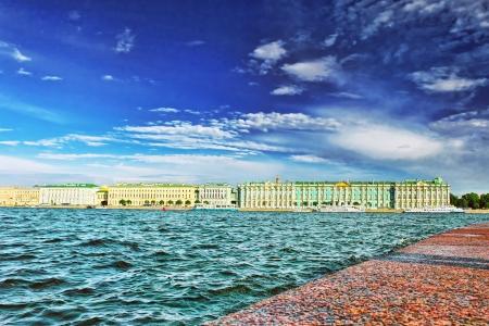 neva: View of Saint Petersburg from Neva river. Russia
