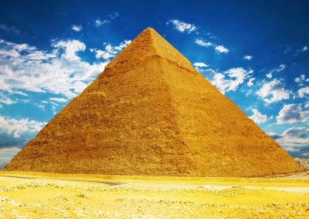 giza: Great Pyramid , located at Giza  Egypt.
