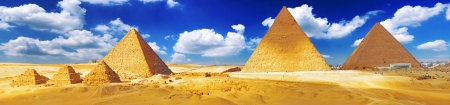 Grote Piramide, gelegen in Giza Egypte. Stockfoto