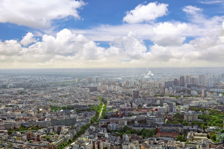 Panorama of Paris from the Montparnasse Tower. France photo