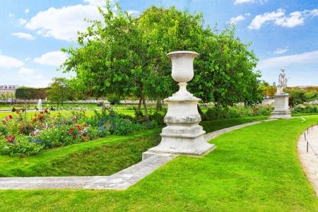 Sculpture and statues in Garden of Tuileries. (Jardin des Tuileries) . Paris. France photo