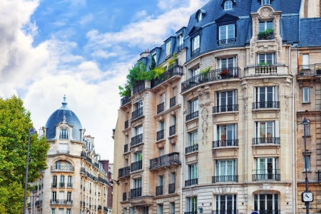 City, urban  view on building in  Paris.France Standard-Bild