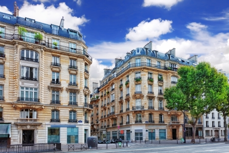 City, urban  view on building in  Paris.France photo