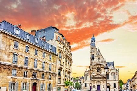 patron: Church of Saint-Etienne-du-Mont (1494-1624) in Paris near Pantheon. It contains shrine of St. Genevieve - patron saint of Paris