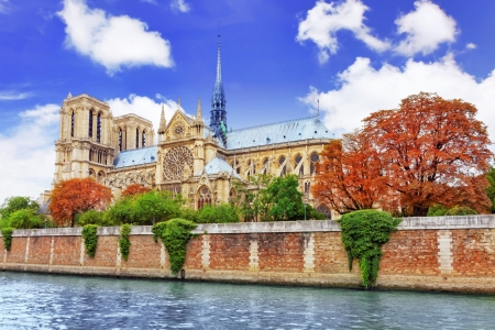 Notre Dame de Paris Cathedral.Paris. France photo