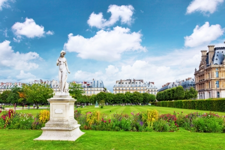 Sculpture and statues in Garden of Tuileries. (Jardin des Tuileries) . Paris. France photo