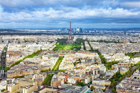 Panorama of Paris from the Montparnasse Tower. France. photo