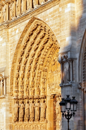 Details of Notre Dame de Paris Cathedral.France  photo