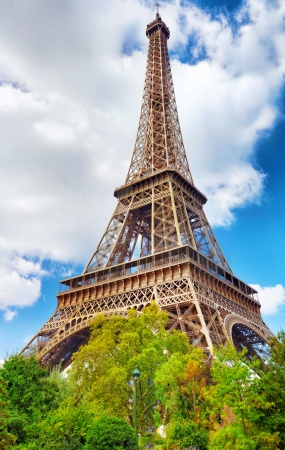 View at foot of Eiffel Tower.Paris, France. photo