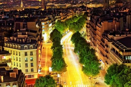 View of Paris from the Arc de Triomphe.  Defans Area.Paris.  photo
