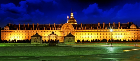 Les Invalides at night - Paris, France Stock Photo - 24352602