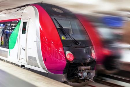 Modern Fast Passenger Train. Motion  effect. photo