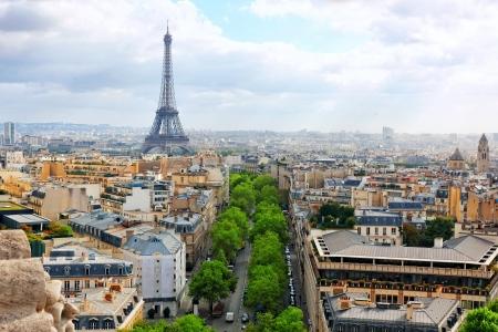 View of Paris from the Arc de Triomphe. Paris.  photo