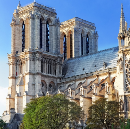 Details of Notre Dame de Paris Cathedral.France  Stock Photo - 24635253