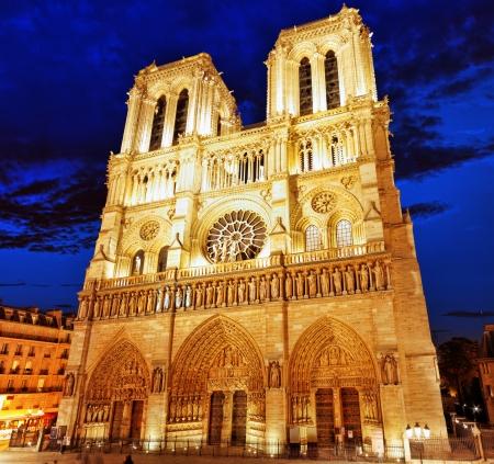 dam square: Notre Dame de Paris Cathedral.Paris. France
