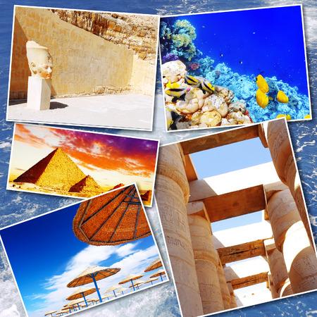 alexandria egypt: Collage of beautiful Egypt . Africa