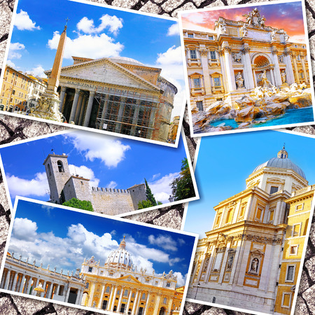 Collage of beautiful Italy. Rome,  Florence, Pisa, Venice. photo