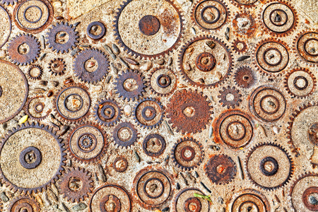 asterix: Background  pattern with cogs and gears. Stock Photo