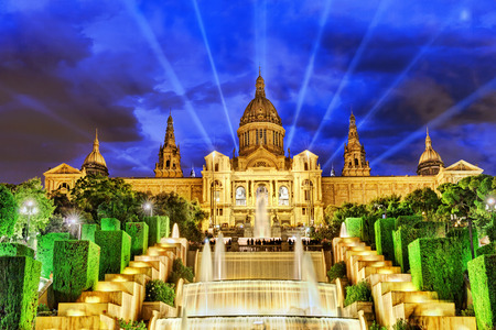 espanya: The National Palace in  Barcelona.Spain. Stock Photo