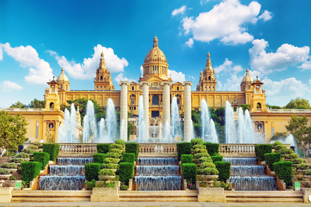 montjuic: National Museum in Barcelona,Placa De Espanya,Spain.