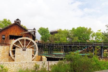 port aventura: PORT-AVENTURA, SPAIN - SEPT, 06:Amusement park in Spain near Salou- Port Aventura. One of the biggest park in Europe. Event September 06, 2014 in Port-Aventura, near Salou,  Spain