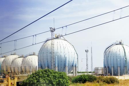petrolium: Big oil Refinery factory. Stock Photo